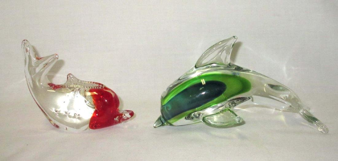 2 Dolphin Paperweights - 2
