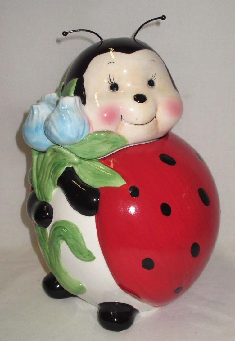 Lady Bug Cookie Jar