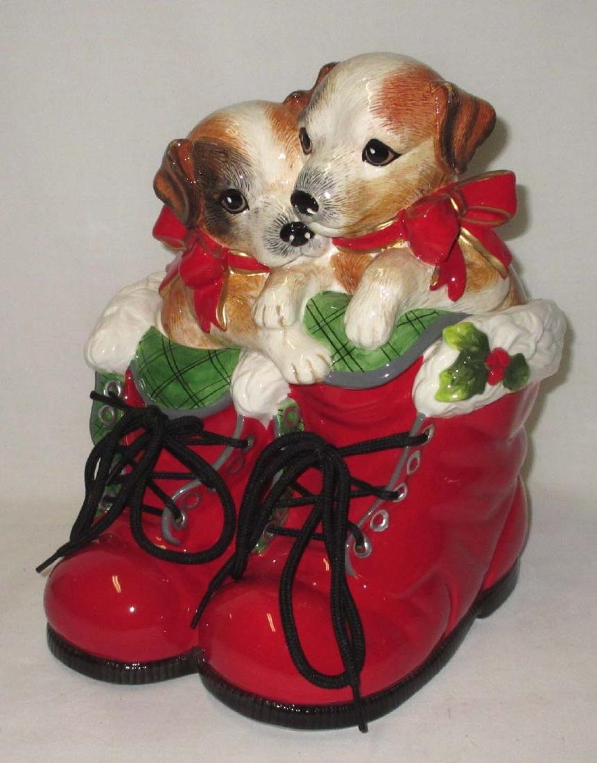2 Dogs Cookie Jar