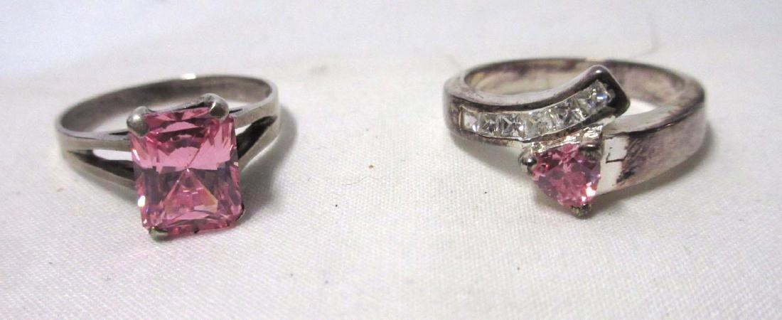 Sterling & Tourmaline Necklace, Earrings, & Rings - 4