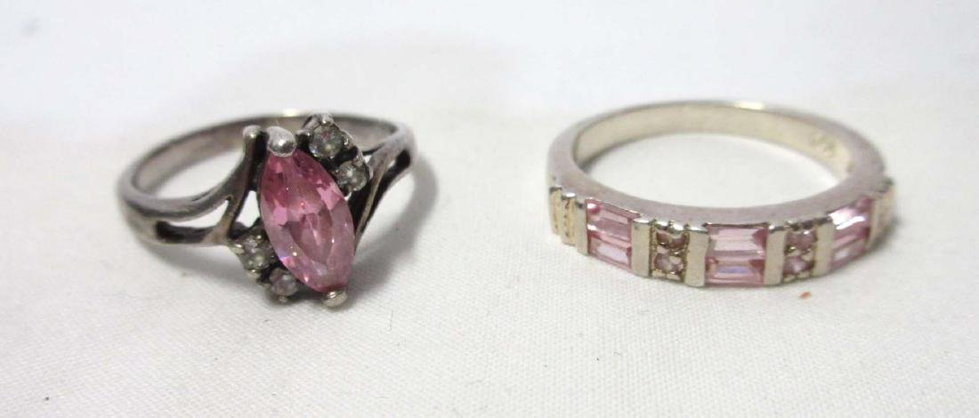 Sterling & Tourmaline Necklace, Earrings, & Rings - 5