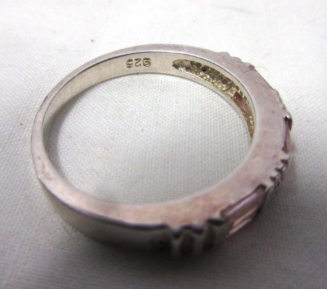 Sterling & Tourmaline Necklace, Earrings, & Rings - 6