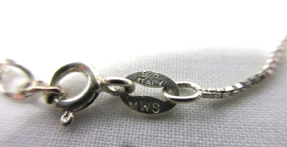 Sterling & Tourmaline Necklace, Earrings, & Rings - 8