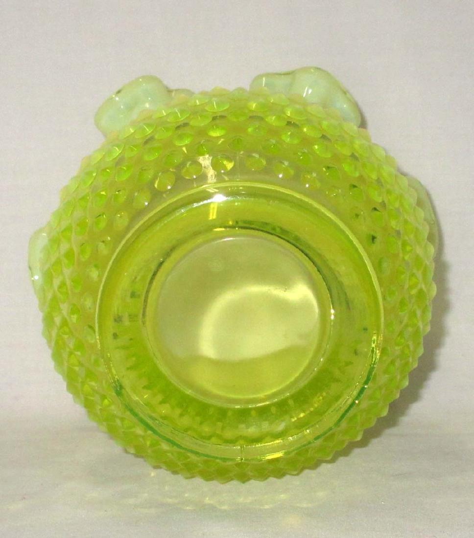 Vaseline Opalescent Fenton Vase - 3