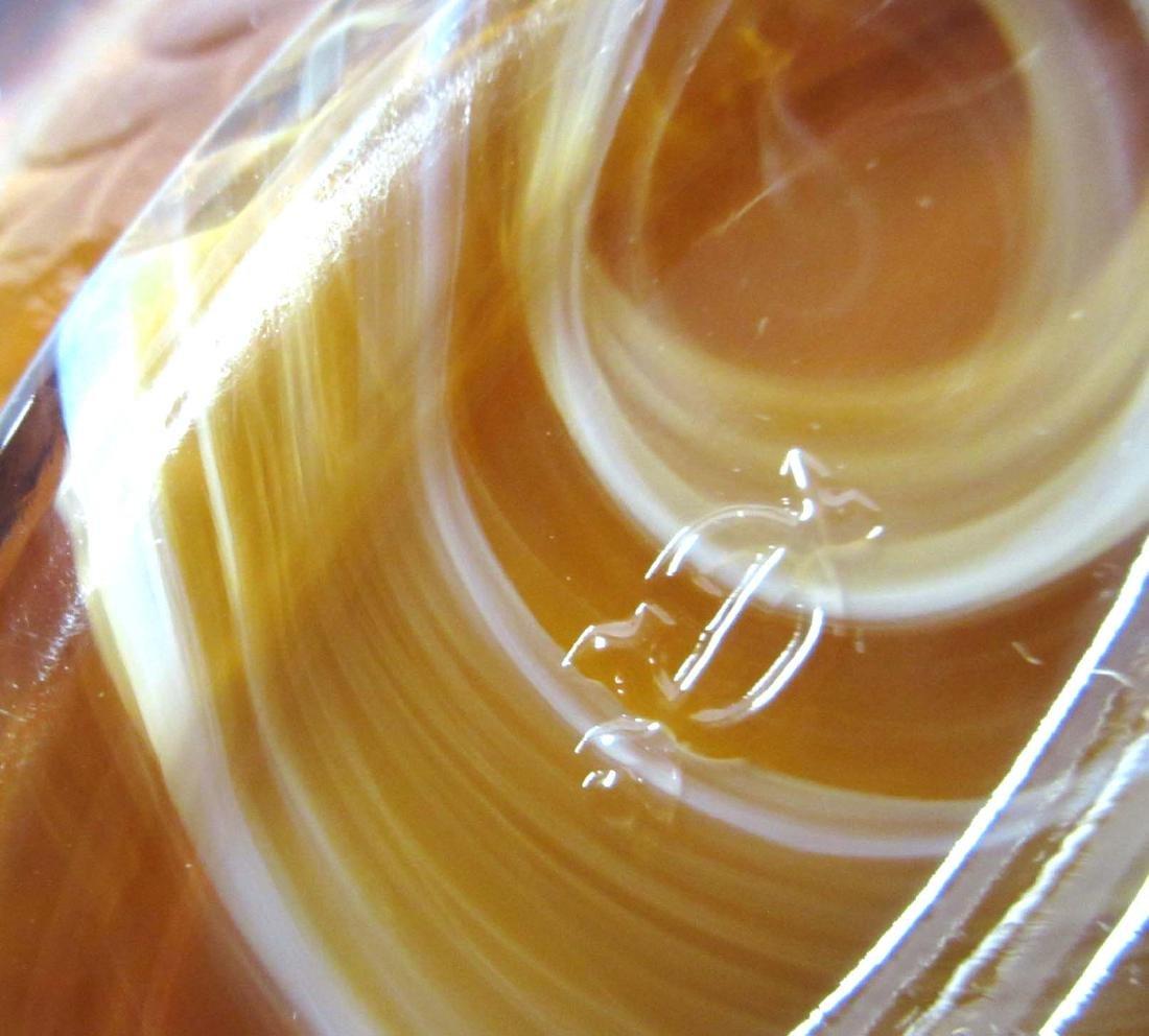 2 Caramel Slag Swan Dishes - 5