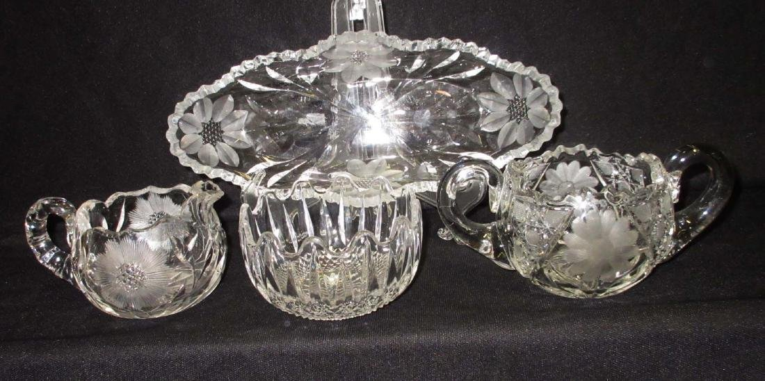 3pc Cut Glass Plus Another