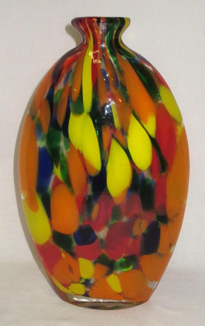 Spatter Art Glass Vase