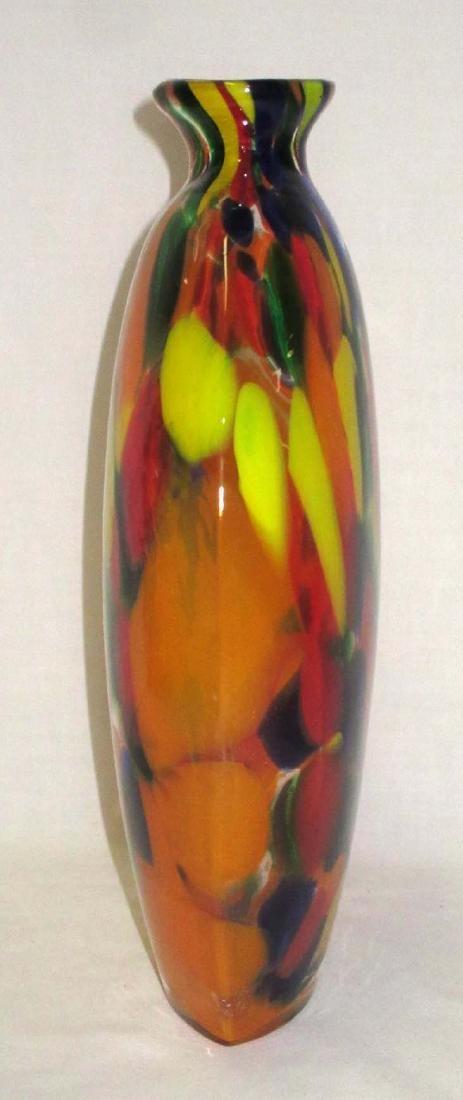 Spatter Art Glass Vase - 2