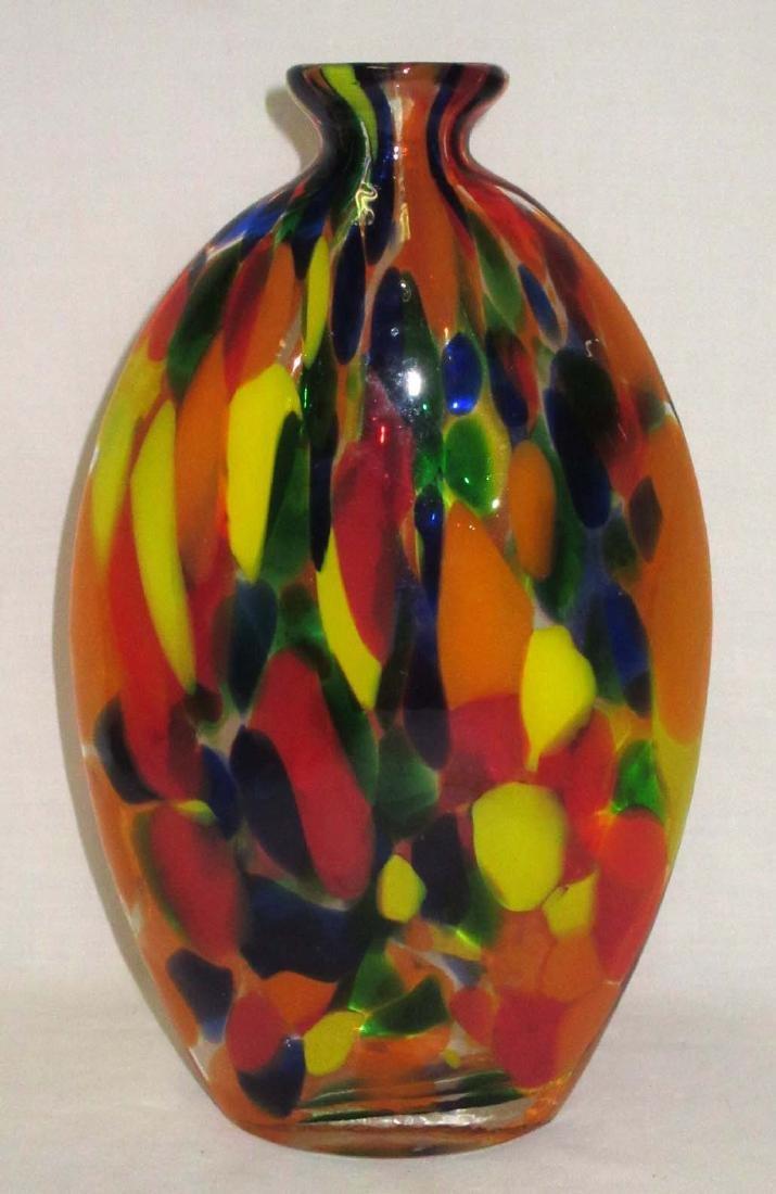 Spatter Art Glass Vase - 3