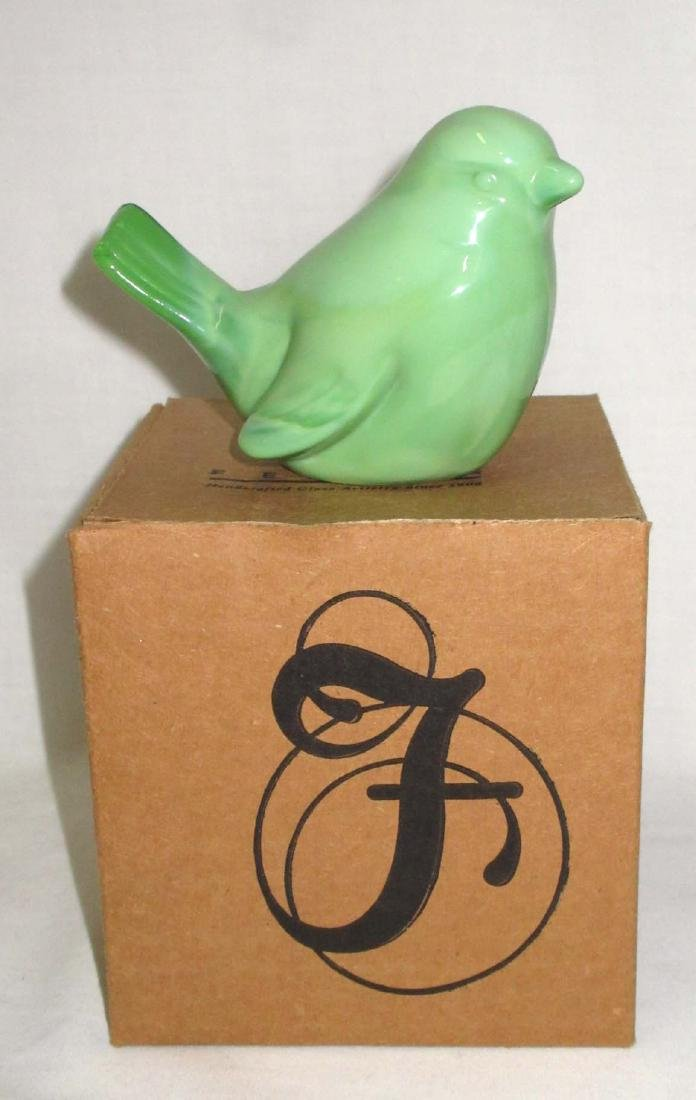 Fenton Bird Paperweight, Orig. Box