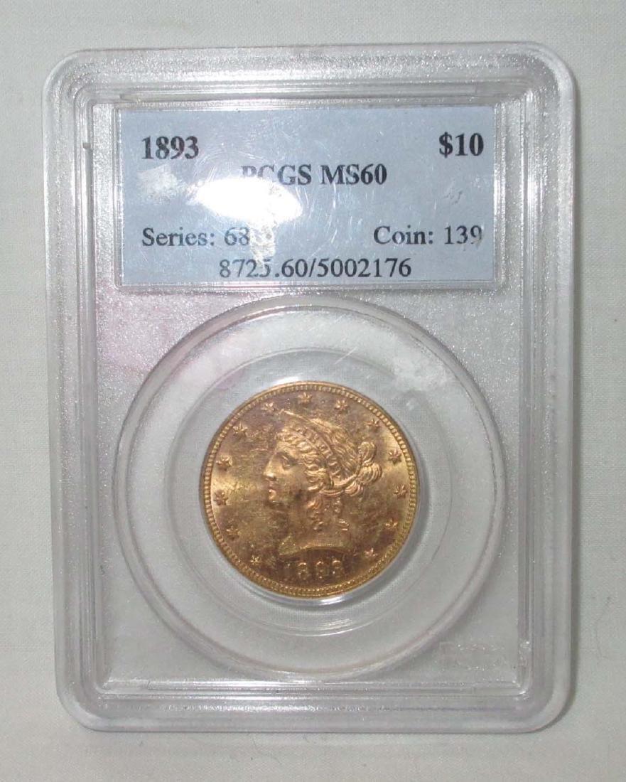 1893 $10 Gold Coin