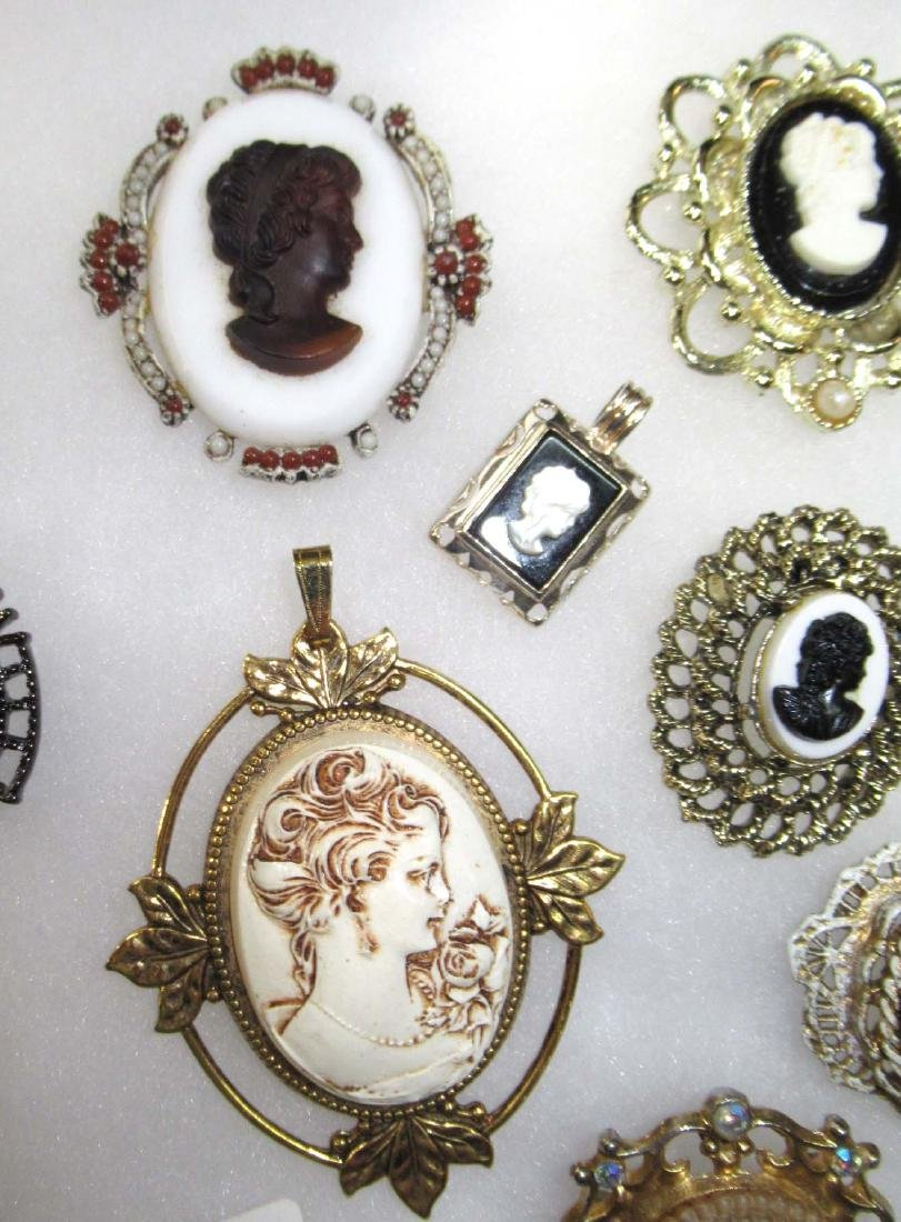 Lg. Group of Cameo Pins, Pendants, Necklaces, & - 3
