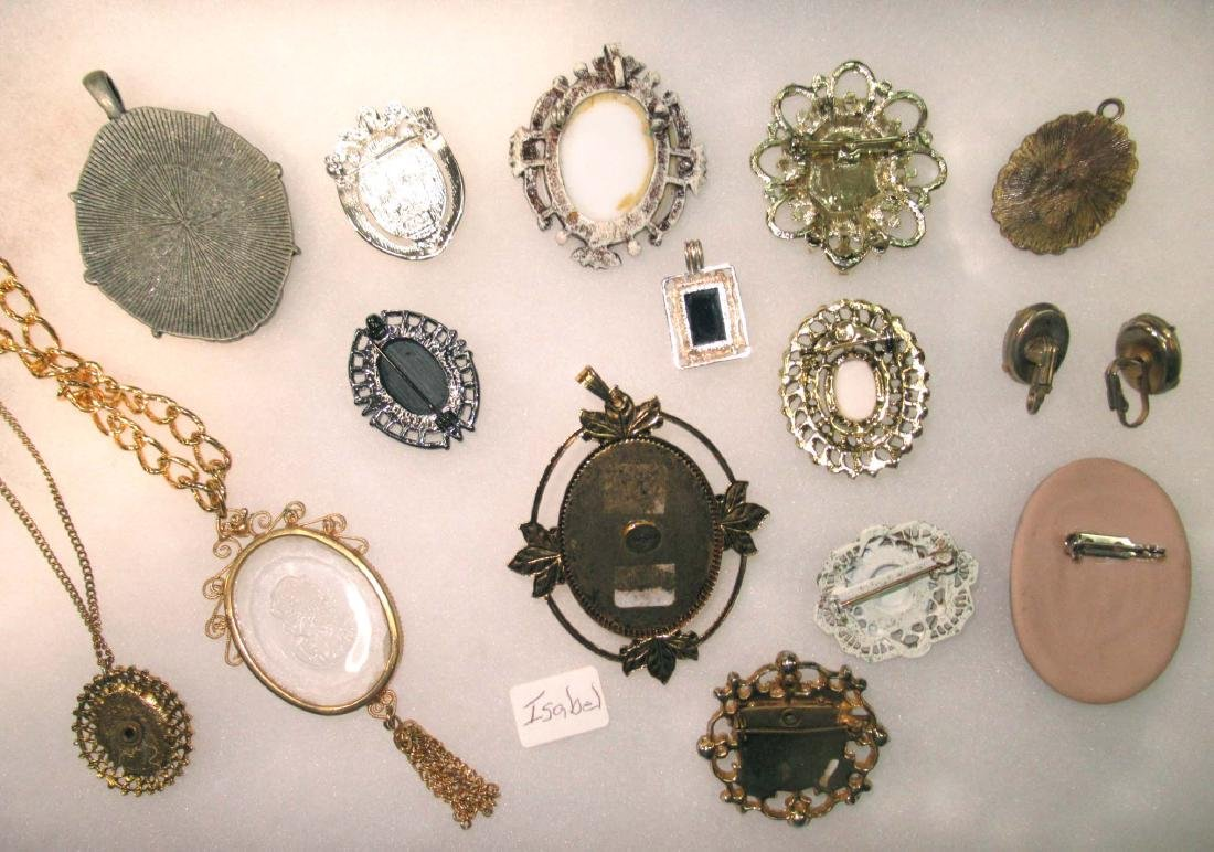 Lg. Group of Cameo Pins, Pendants, Necklaces, & - 5