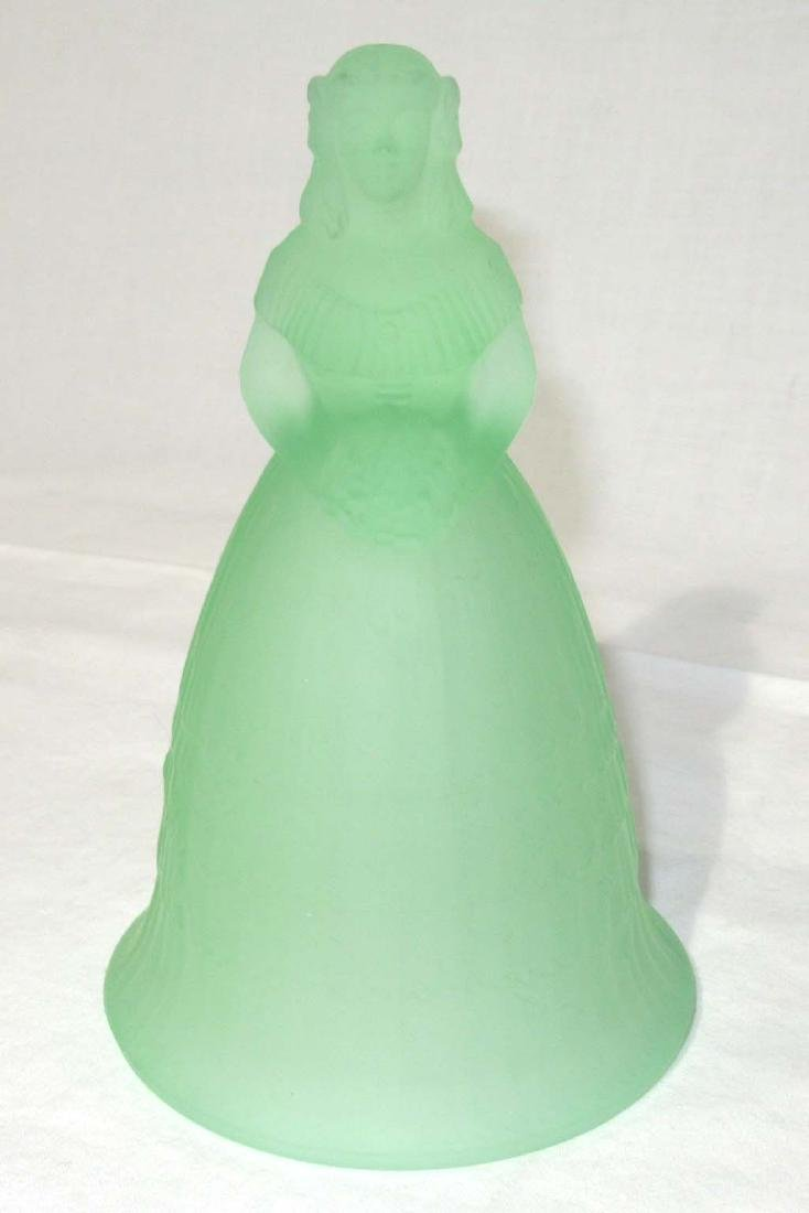 Southern Belle Green Glass Bell