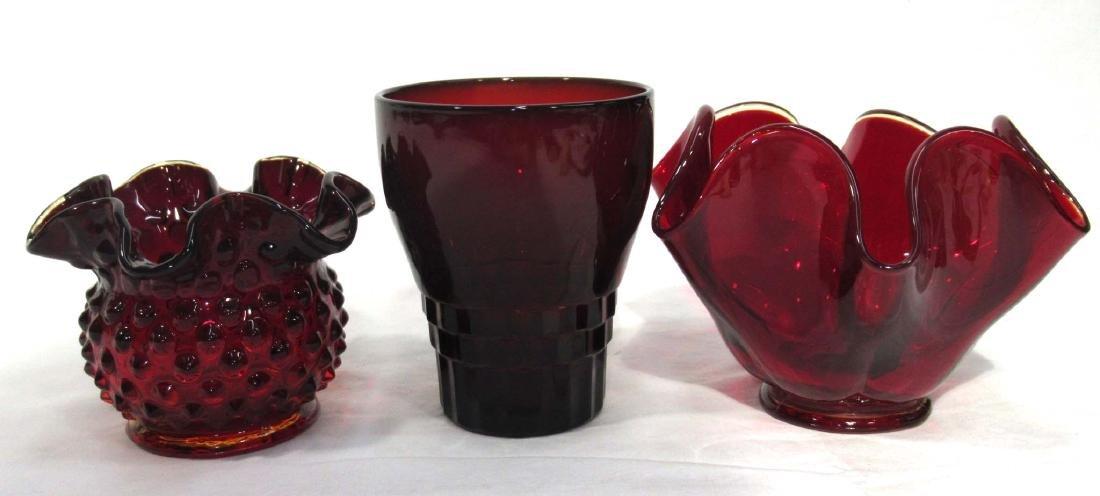 3pc Ruby Glass