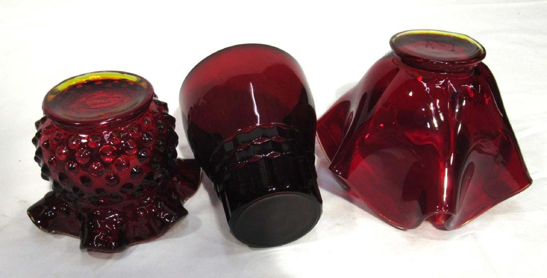 3pc Ruby Glass - 2