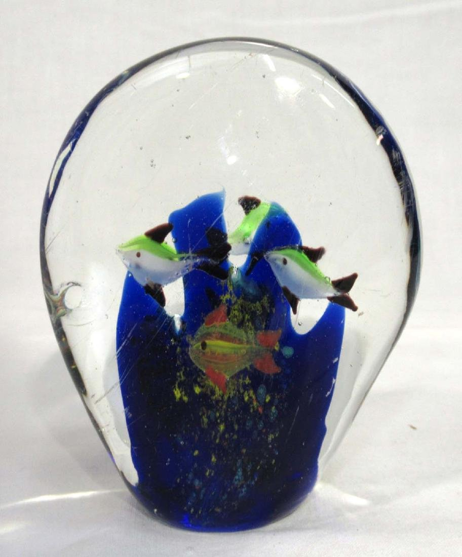 Coral Reef & Fish Paperweight - 2