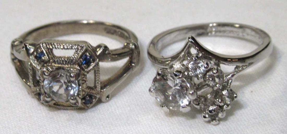 Sterling & 18 KGF White Topaz Rings