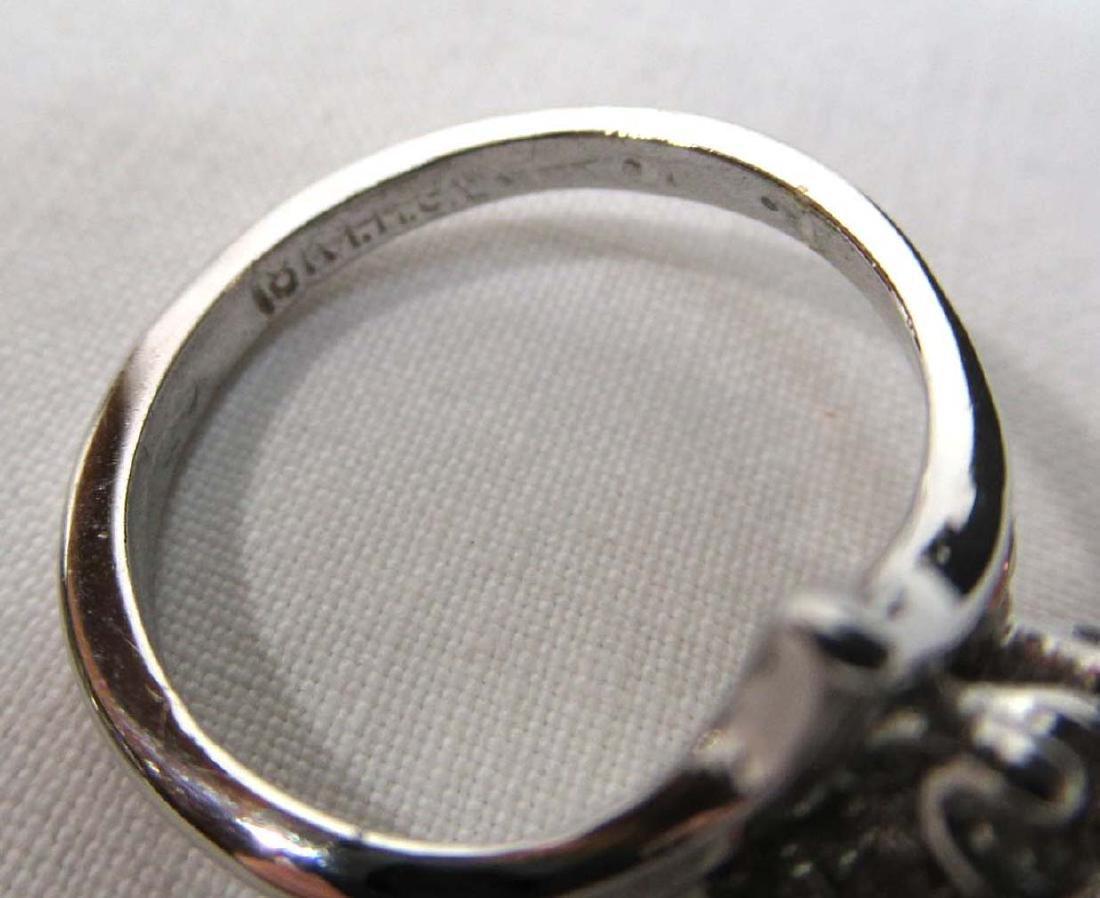 Sterling & 18 KGF White Topaz Rings - 4