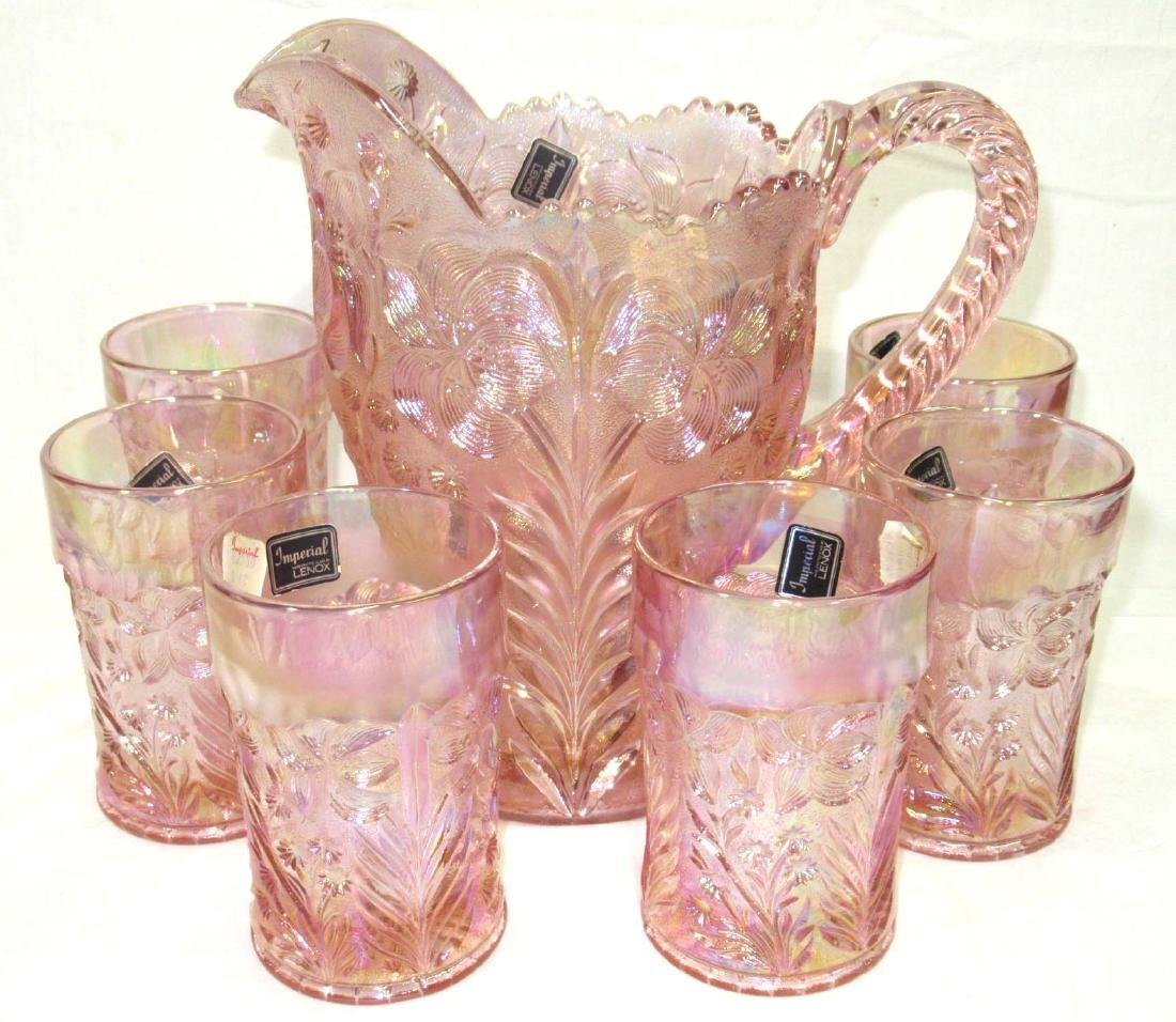 7pc Pink Imperial Lenox Water Set