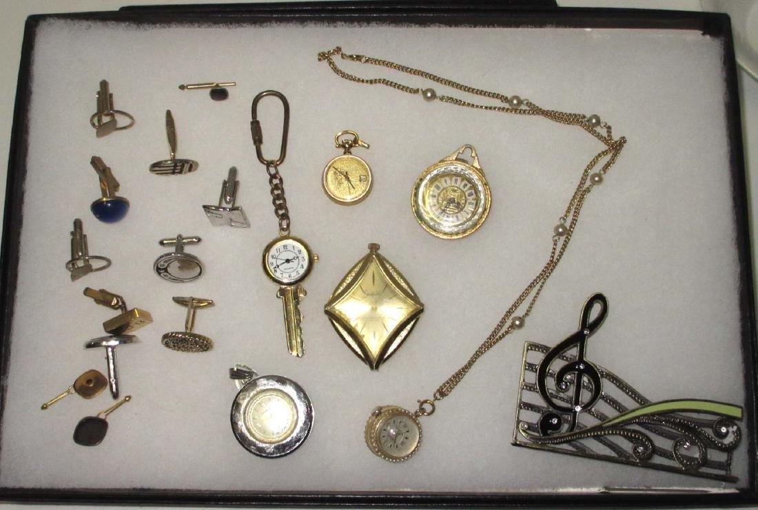 Lot Costume Jewelry Watches, Cuff links, etc..
