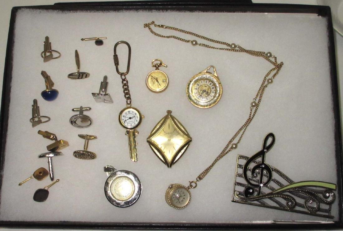 Lot Costume Jewelry Watches, Cuff links, etc..