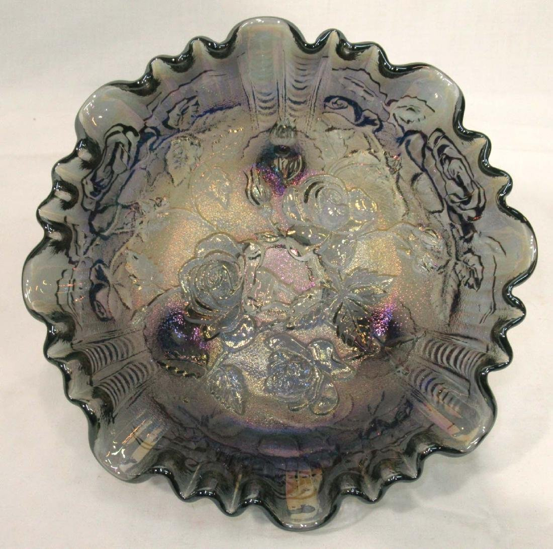 Imperial Carnival Glass Footed Bowl