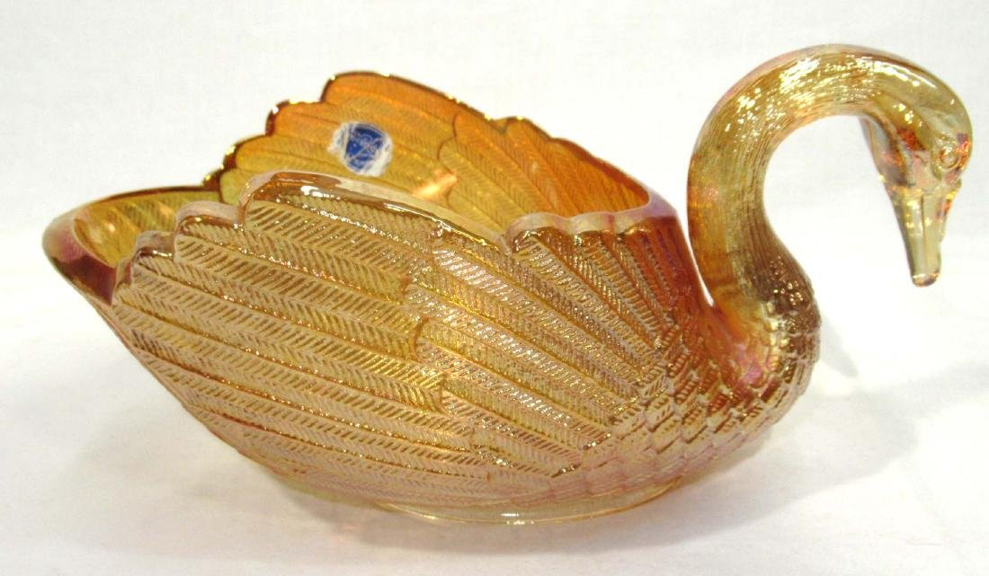 Imperial Carnival Glass Swan