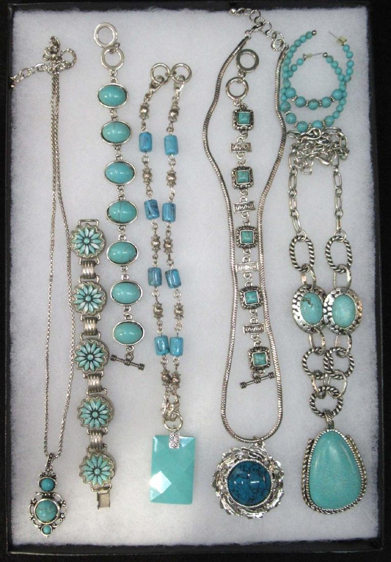 Lot of Faux Turquoise Jewelry