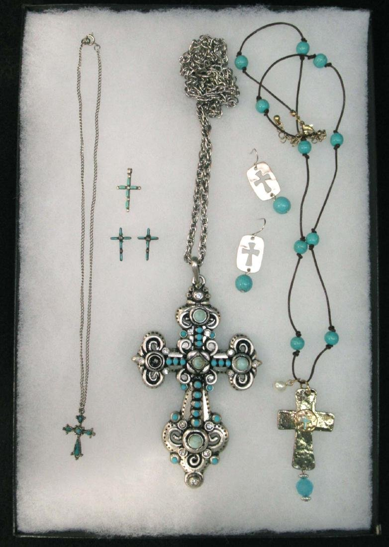 Lot of Faux Turquoise Religious Jewelry
