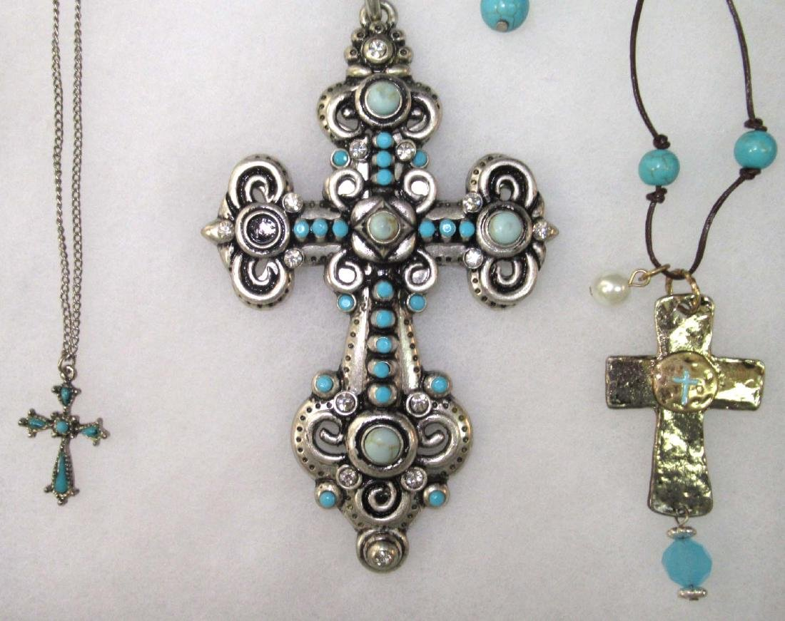 Lot of Faux Turquoise Religious Jewelry - 2