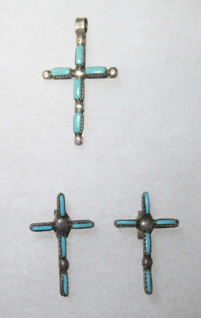 Lot of Faux Turquoise Religious Jewelry - 3