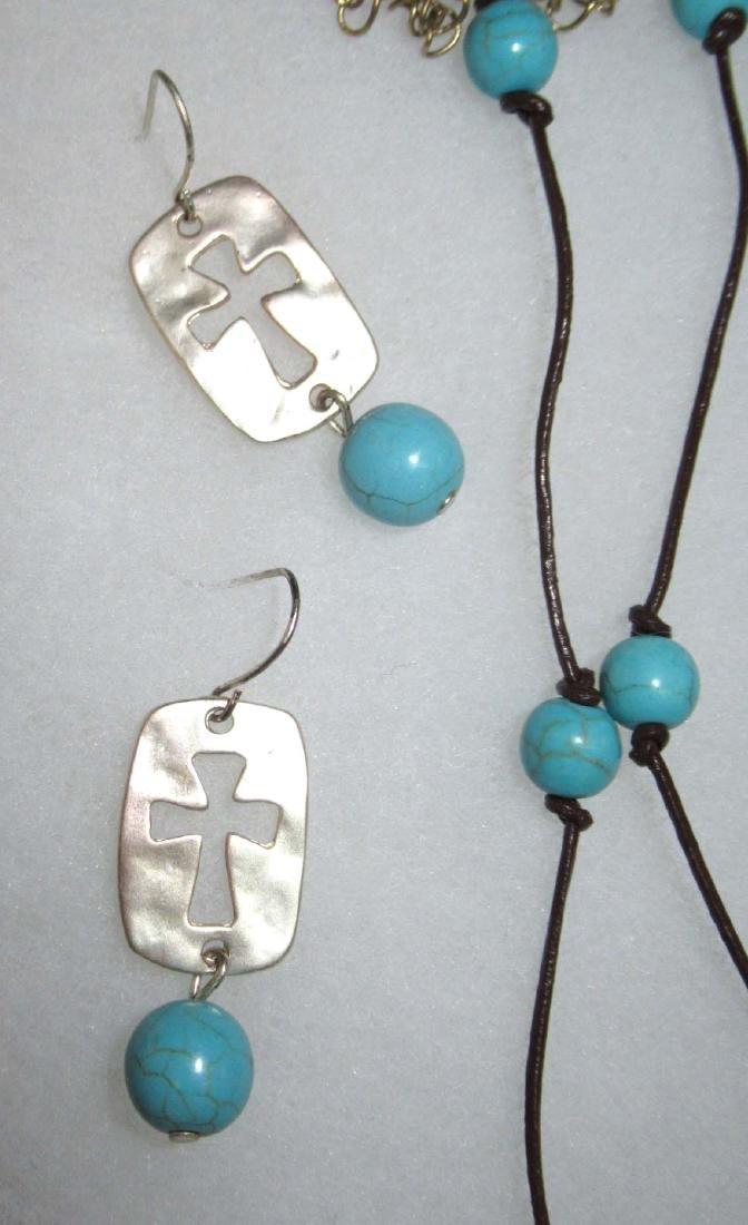 Lot of Faux Turquoise Religious Jewelry - 4