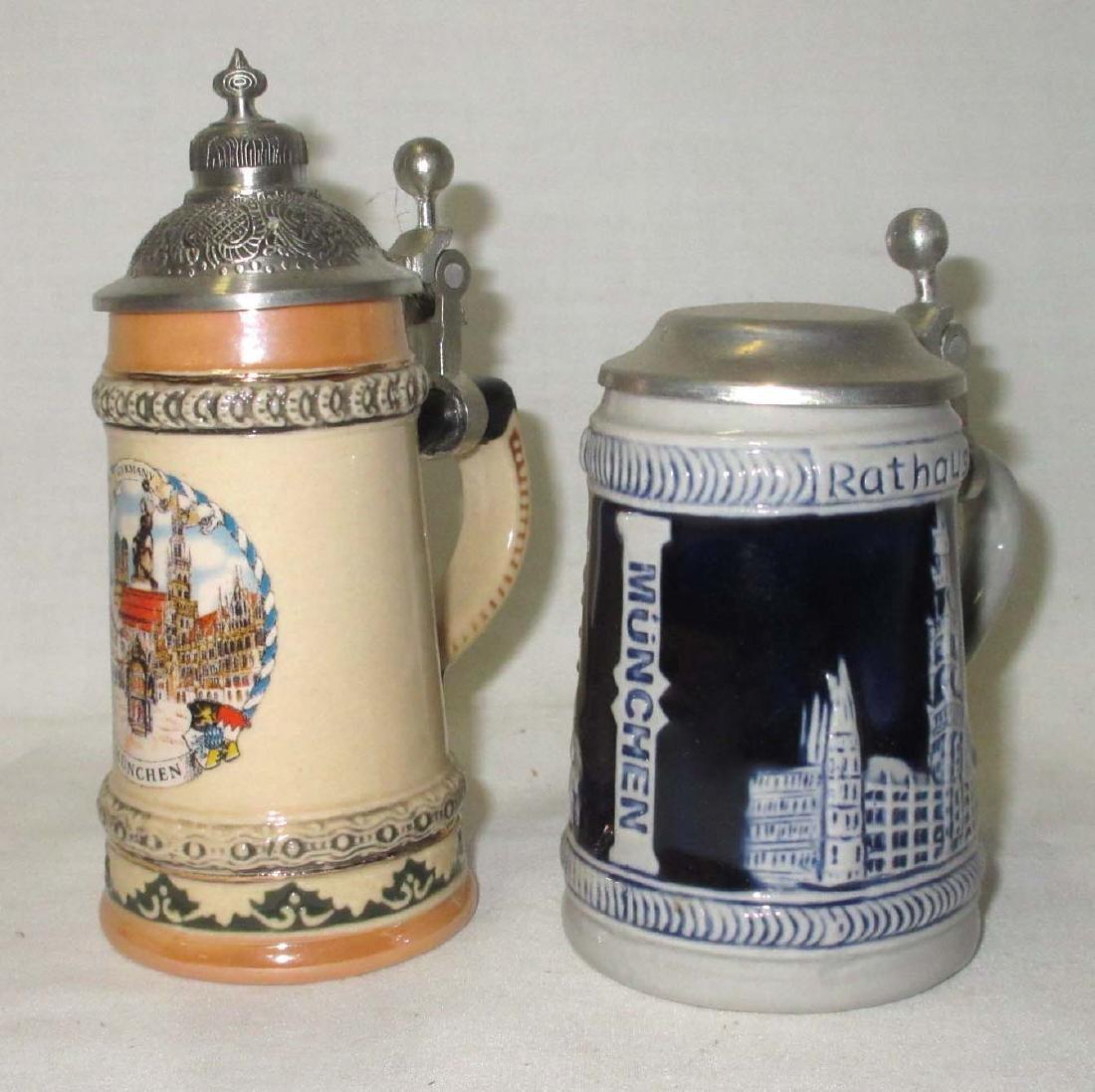 2 Miniature Beer Steins
