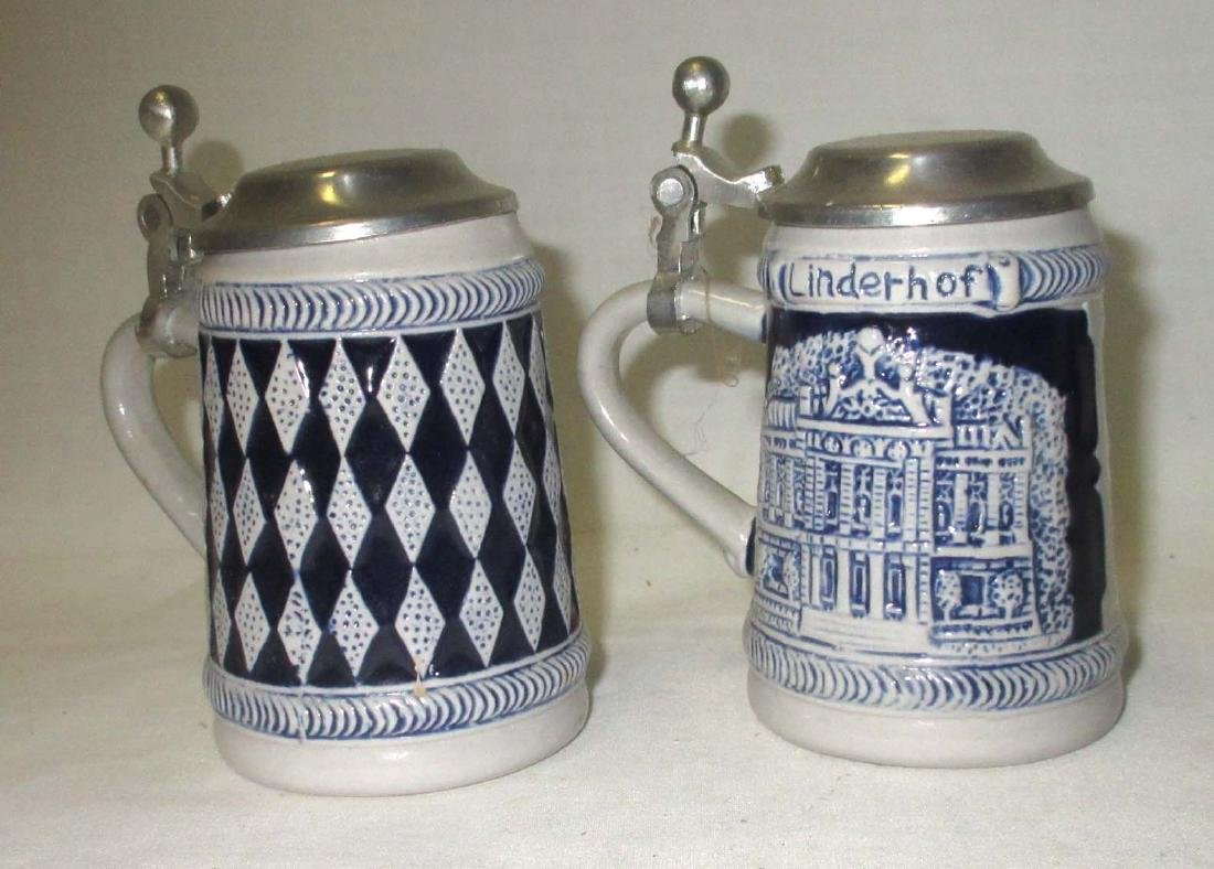 2 Miniature Beer Steins