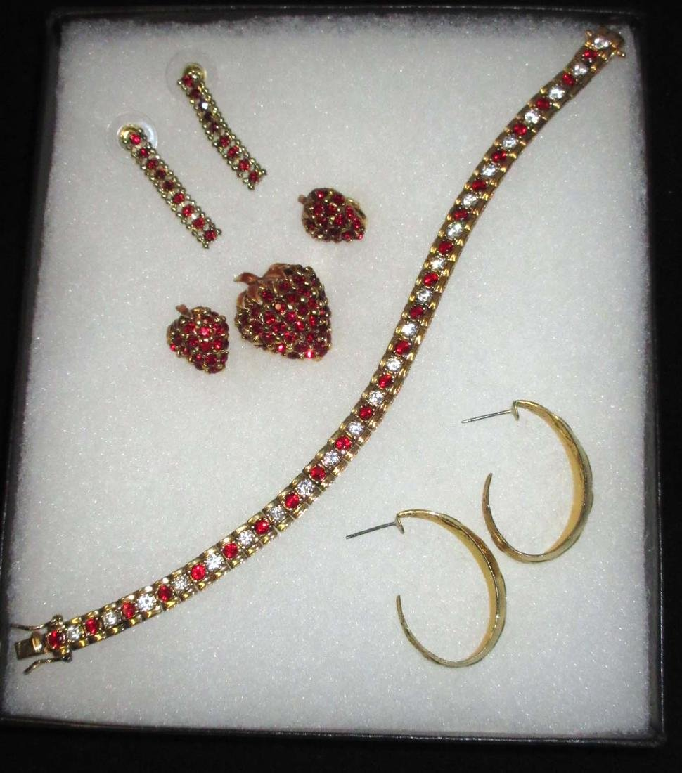 Sterling Rhinestone Bracelet & other red robin Jewelry