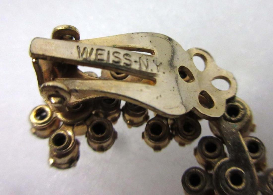 Weiss & Krementz Rhinestone Pins & Earrings - 2