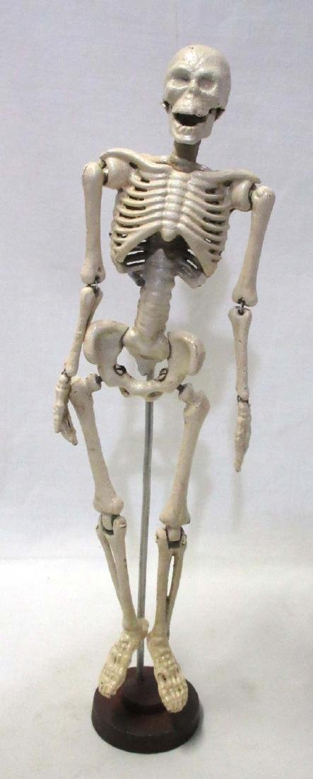 Articulated Cast Iron Skeleton w/ stand