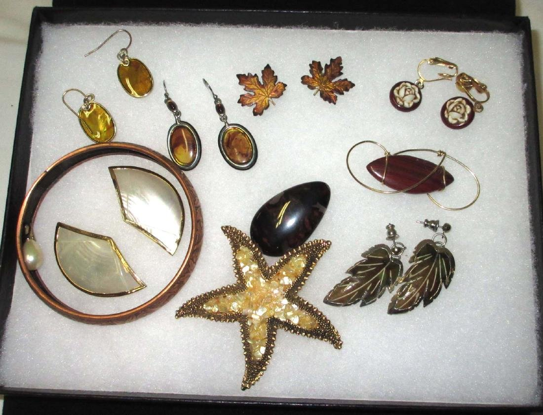 Fall Wood & Copper jewelry