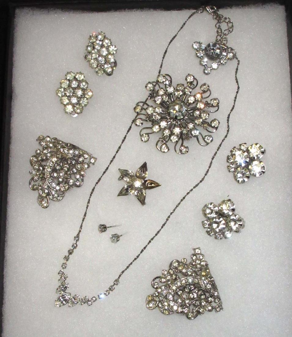 Clear Rhinestone Jewelry