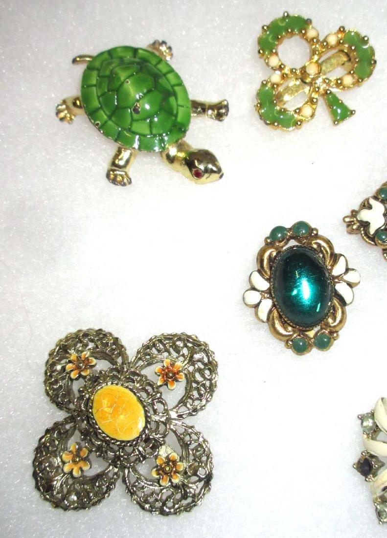 Enameled Pins, Earrings & Bracelet - 2