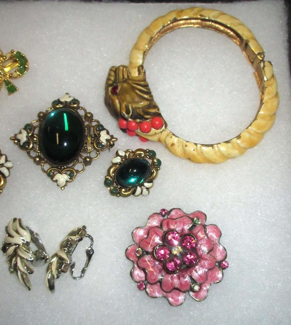 Enameled Pins, Earrings & Bracelet - 3