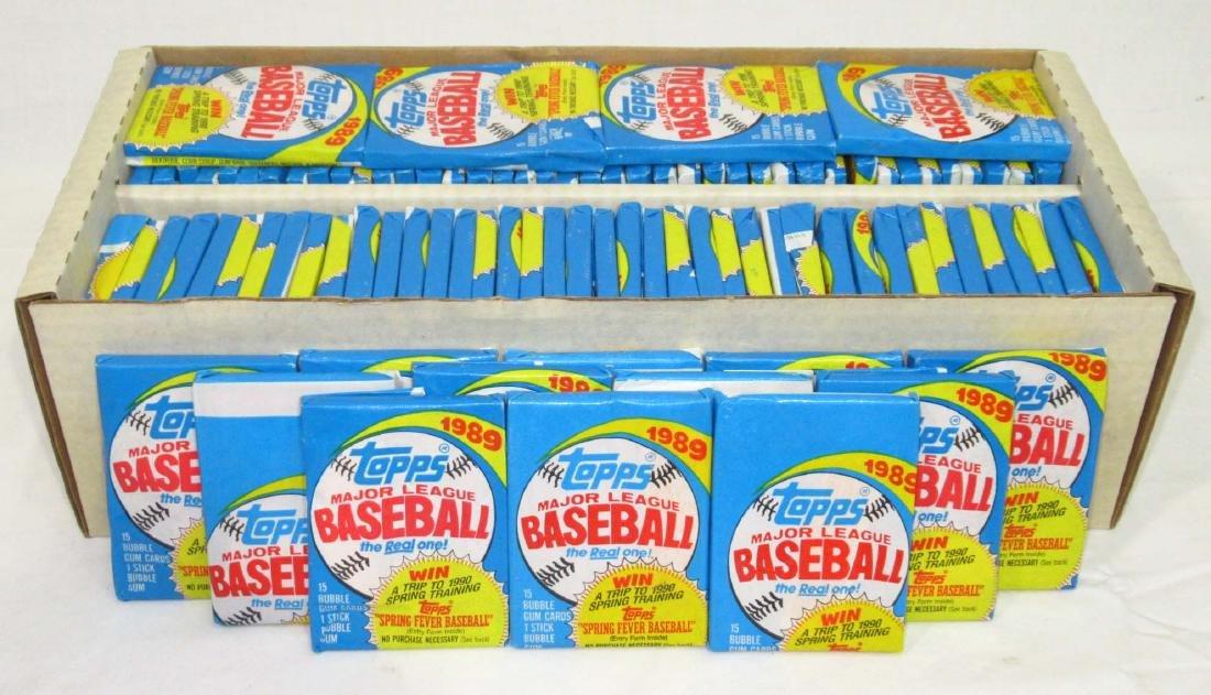 Lg. Lot 1989 Topps Baseball Cards Wax Packs