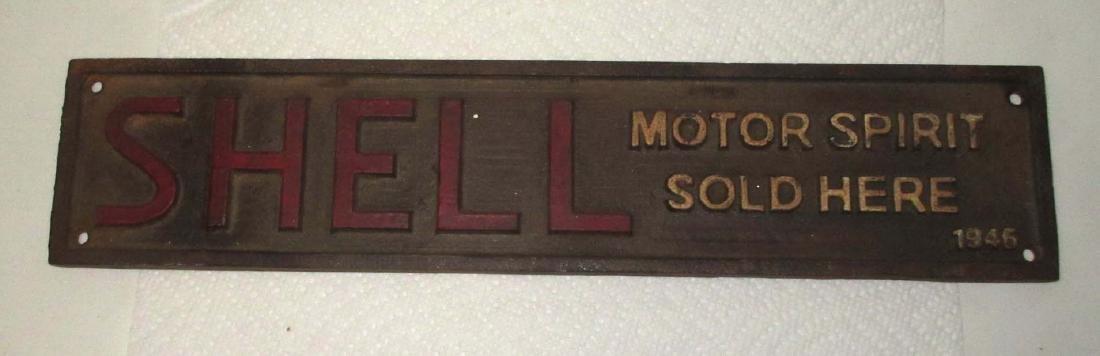 Modern Cast Iron Shell Oil Sign