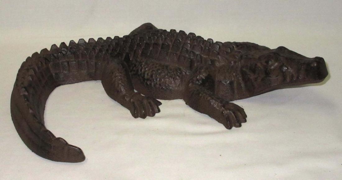 Modern Cast Iron Alligator Door Stop