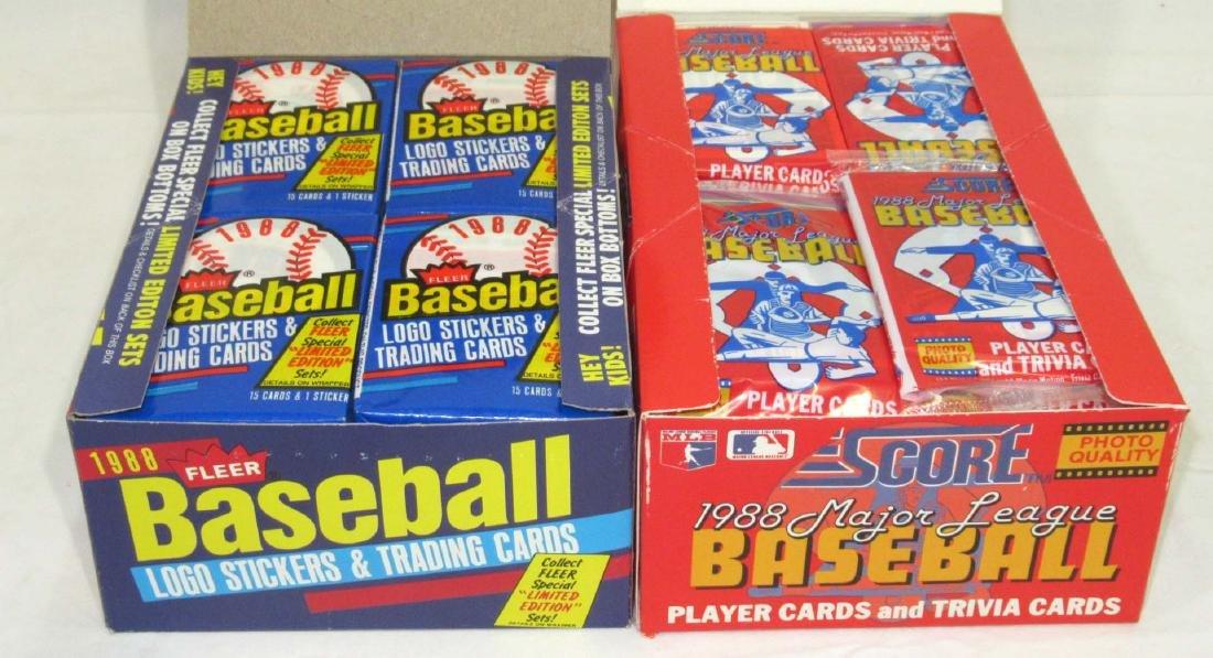 1988 Fleer & 1988 Score Factory Boxes Baseball Cards