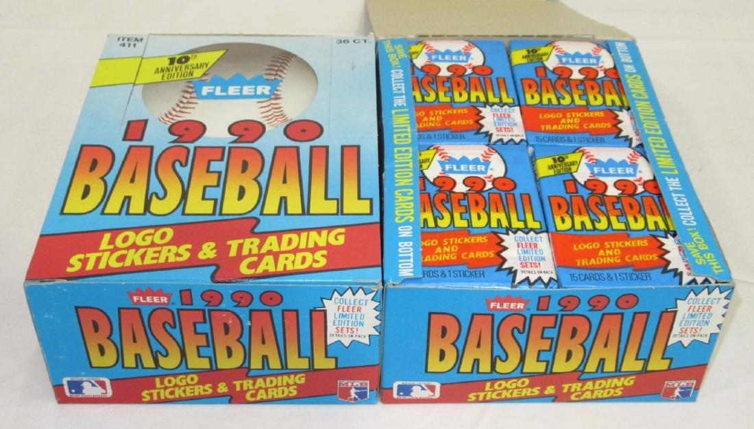 2 Factory Boxes 1990 Fleer Baseball Cards