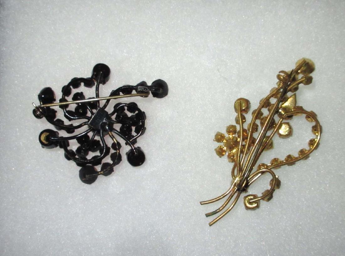 2 Austria Rhinestone Pins - 2