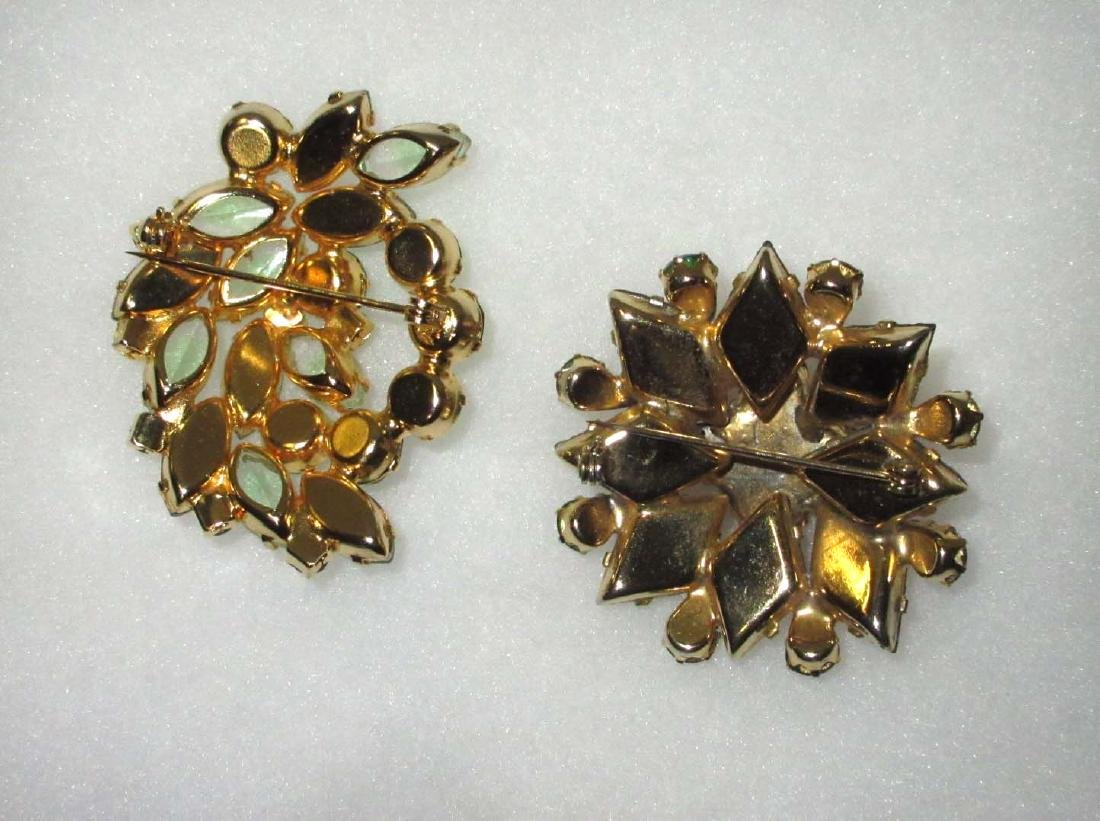 2 Domed Quality Rhinestone Pins - 3