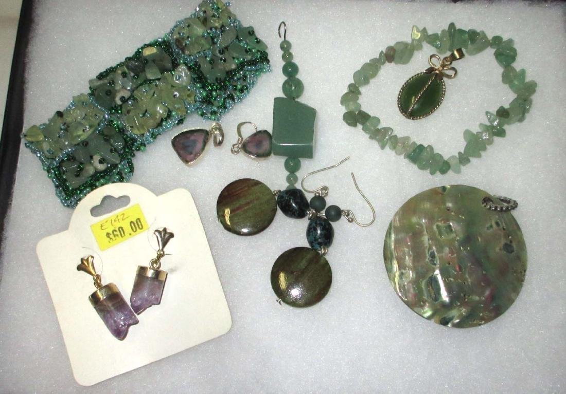 Jadeite & Amethyst Bracelets, Pendants & Earrings